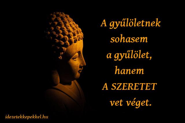 buddha idézet, A gyűlöletnek sohasem a gyűlölet, hanem a szeretet vet véget.