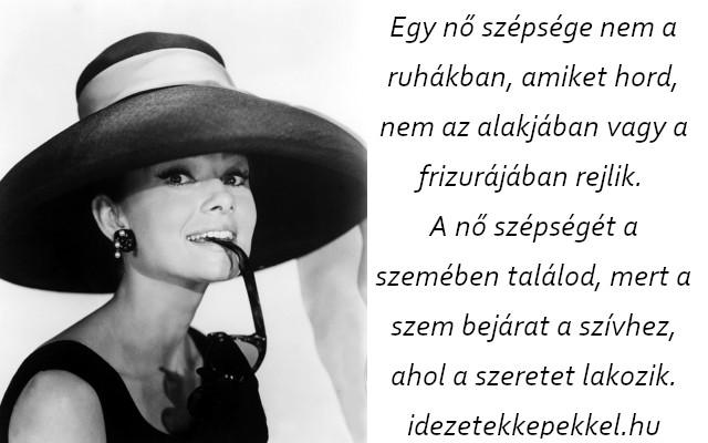 audrey hepburn idézet egy nő
