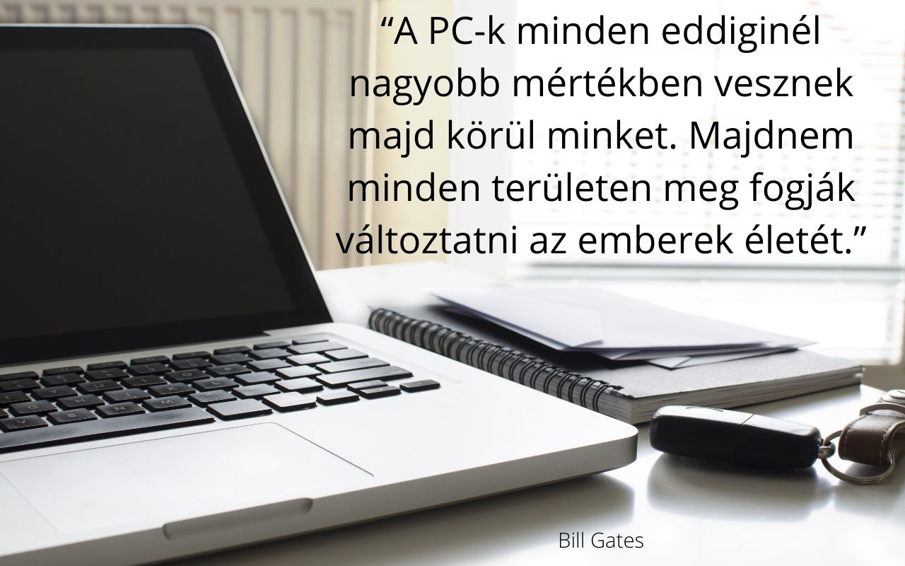 Bill Gates idézet, pc