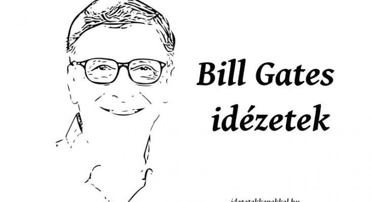 Bill Gates idézetek képekkel