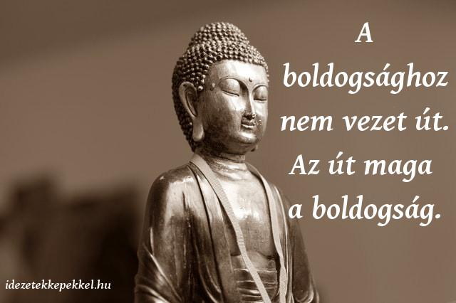 buddha idézet, A boldogsághoz nem vezet út. Az út maga a boldogság.