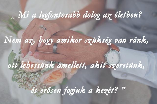 esküvői idézetek filmekből, nem az a legfontosabb