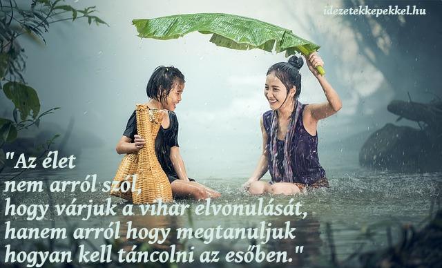 eső idézet, az élet nem arról szól