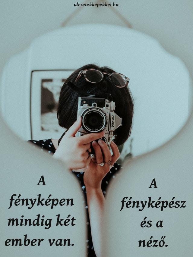 fotós idézet, a fényképen két ember van