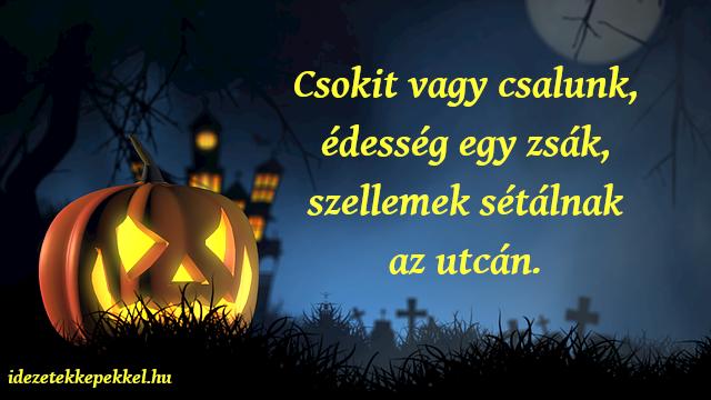 halloween idézet, csokit vagy csalunk