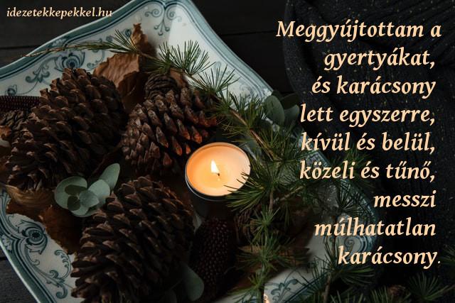 karácsonyi idézet barátoknak, gyertya