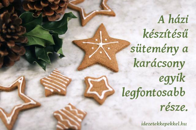 karácsonyi idézet barátoknak, süti