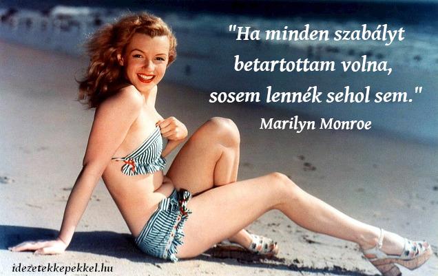 Marilyn Monroe idézet szabály