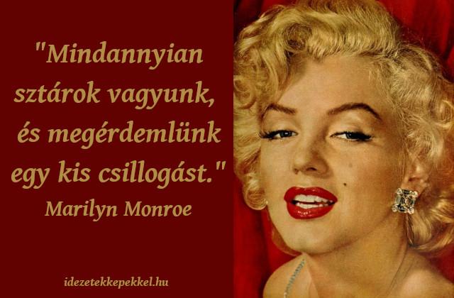 Marilyn Monroe idézet sztár