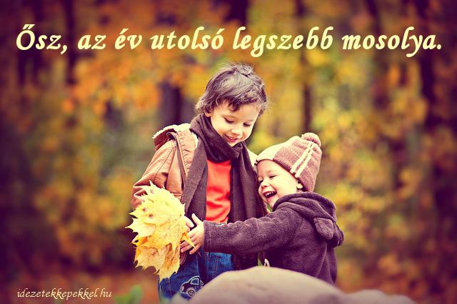 ősz idézet, mosoly