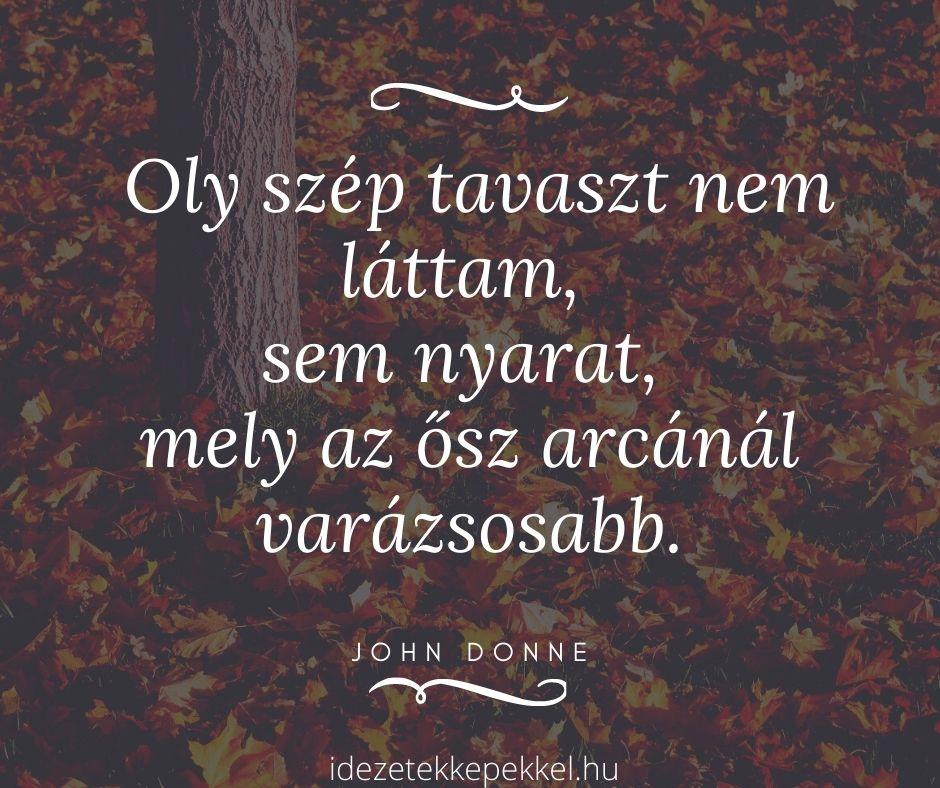 ősz idézet, őszi erdő