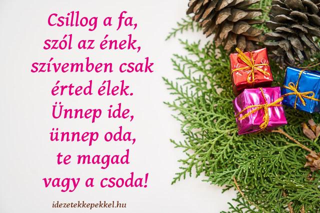 rövid karácsonyi idézet, csillog a fa