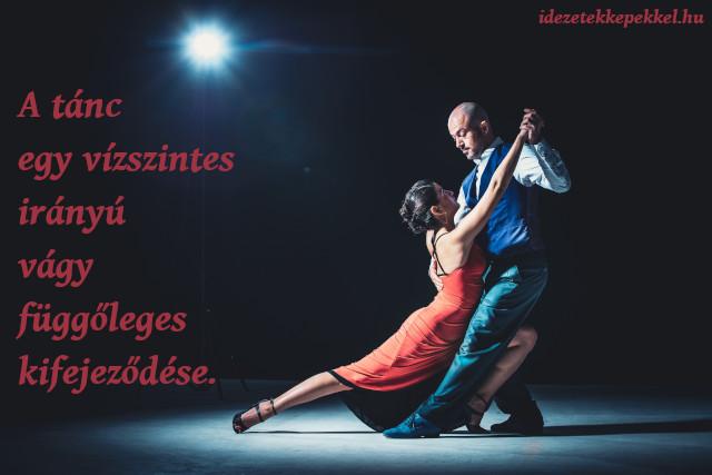 tánc vízszintes irányú vágy függőleges kifejeződése