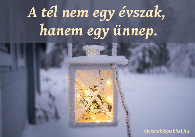 tél idézet, A tél nem egy évszak, hanem egy ünnep.