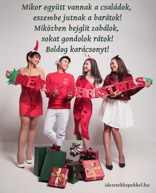 vicces karácsonyi idézet barátoknak, zabálok
